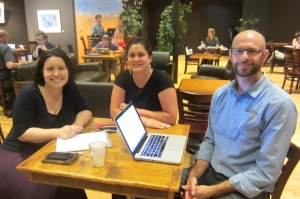 Photo of a board members Laura Hale, Debbie Krug, and Stephen Dybas